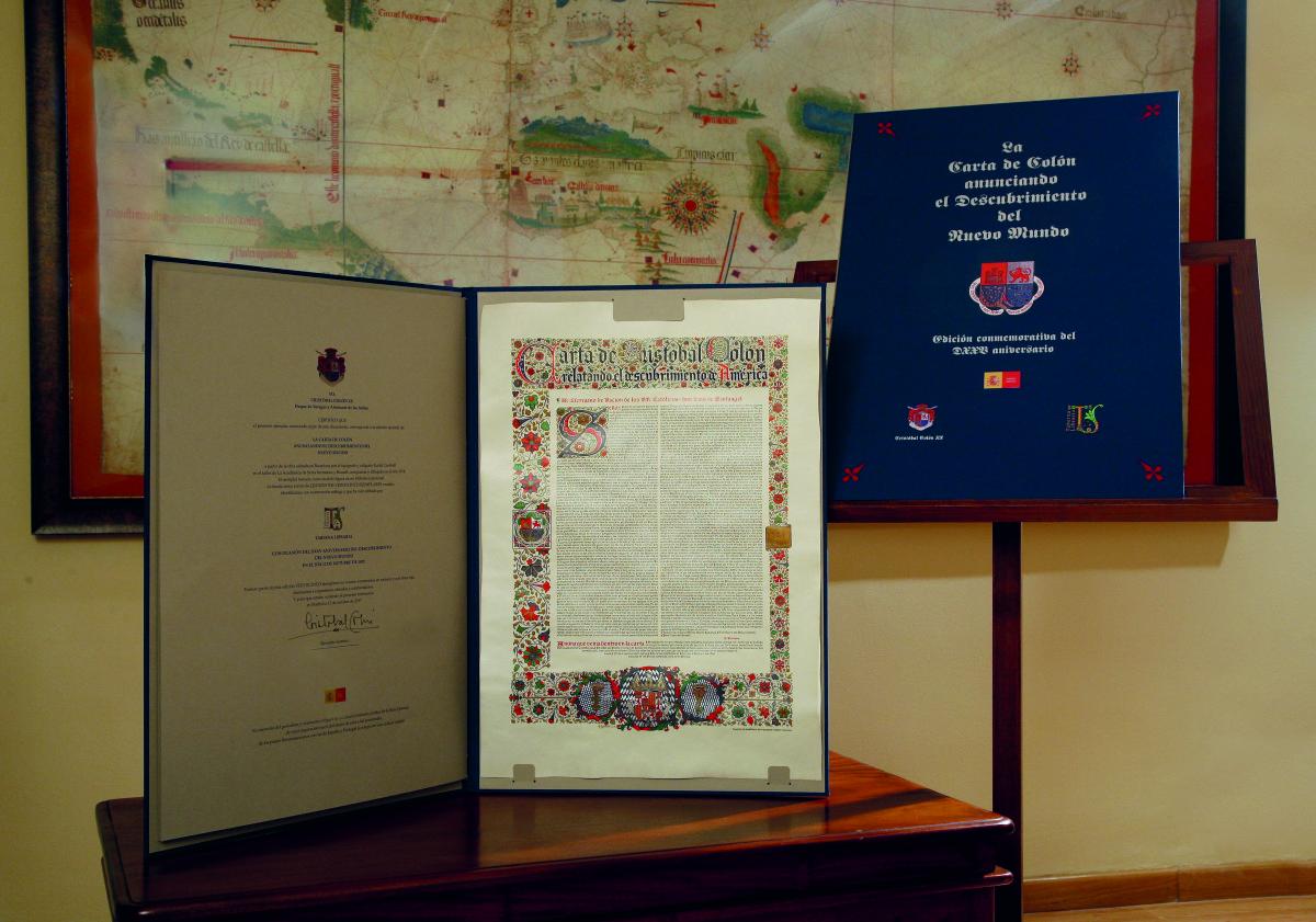 La Carta de Colón anunciando el Descubrimiento del Nuevo Mundo