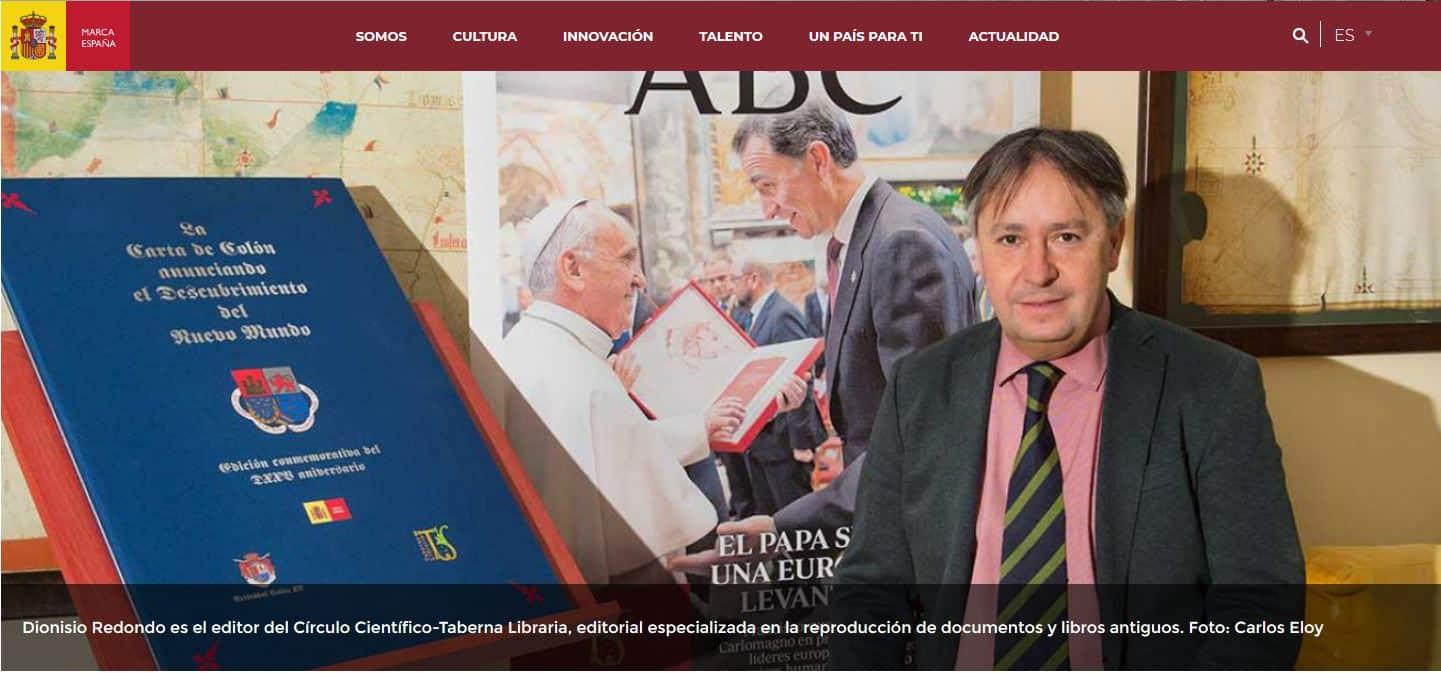 """Dionisio Redondo: """"España es el primer globalizador de la historia"""" - marcaespana.es"""